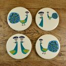 Ceramic Peacock Coasters