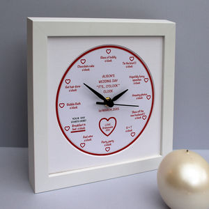 Personalised 'It's… O'clock' Wedding Day Clock