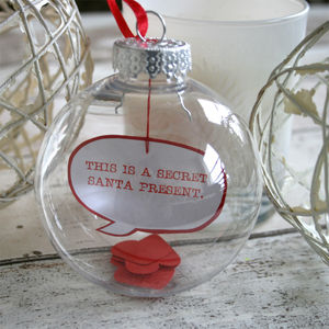 'This Is A Secret Santa Present' Christmas Bauble