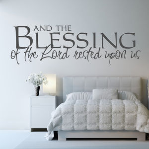 'And The Blessing Of The Lord..' Wall Sticker