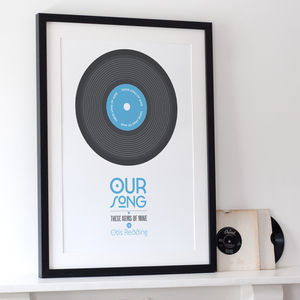 Personalised 'Our Song' Print - for him