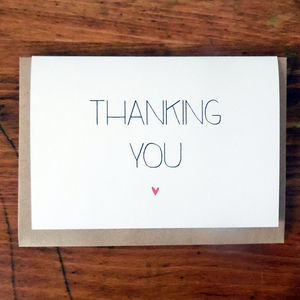 Thanking You - thank you cards