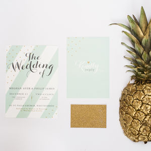 'All That Glitters' Wedding Invitation - reply & rsvp cards