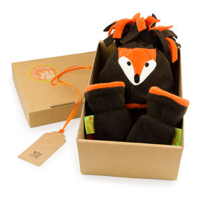 Fox Hat And Mittens Gift Set For Baby And Child