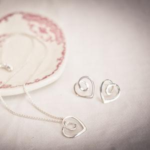 Eternal Heart Pendant And Studs Set - jewellery sets