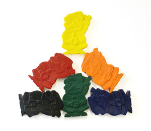 Set Of Six Santa Claus Crayons