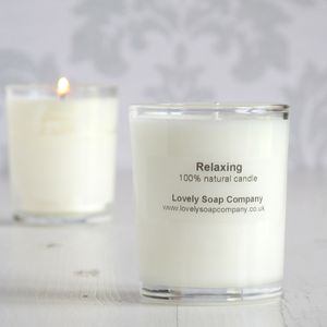 Lavender Essential Oil Natural Candle