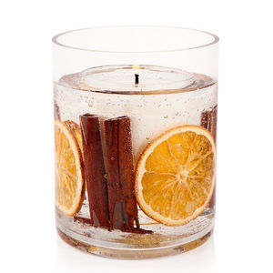 Cinnamon And Orange Gel Vase Candle