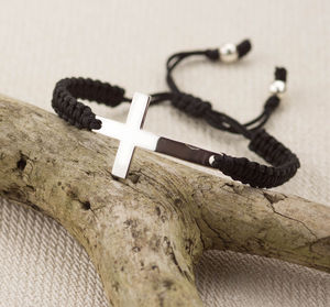 Silver Cross Friendship Bracelet