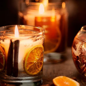 Christmas Cinnamon And Orange Gel Candle - candles & candlesticks