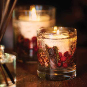 Redcurrant And Cranberry Gel Candle - christmas home