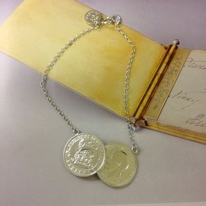 Double Sixpence Coin Bracelet