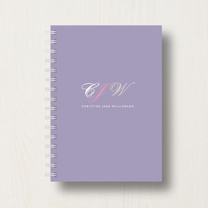 Personalised Monogram Initials Journal - bridesmaid gifts