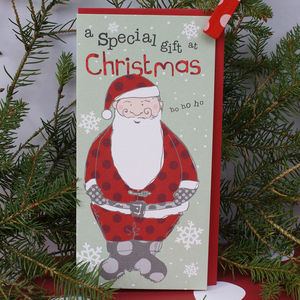 Santa, Fairy Or Present Christmas Money Wallet - cards & wrap sale