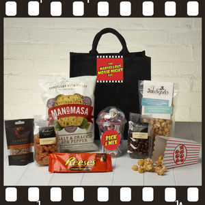 The Marvellous Movie Night Gift Bag - cosy picnic