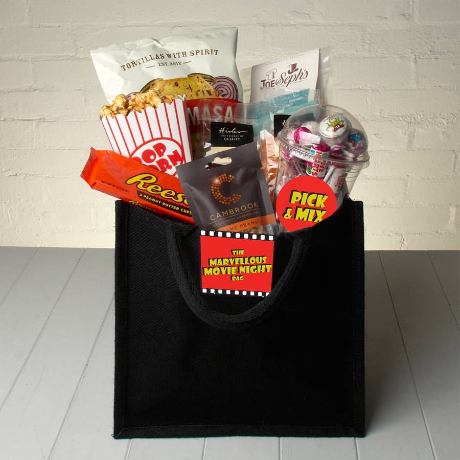 The marvellous movie night gift bag with trivia by