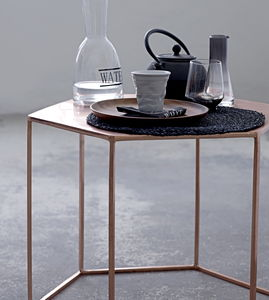 Copper Hexagonal Coffee Table - coffee tables