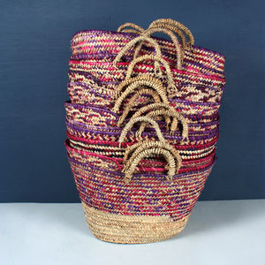 Country Colour Woven Basket - bags & purses