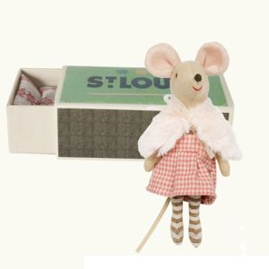 Big Sister Matchbox Mouse In Party Clothes