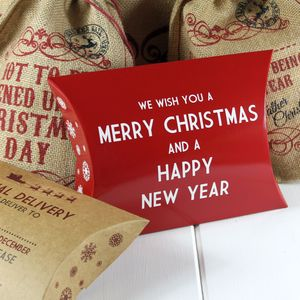 Christmas Gift Box 'We Wish You A Merry Christmas…' - gift boxes