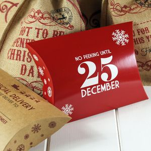 Christmas Gift Box 'No Peeking Until 25th December' - gift boxes