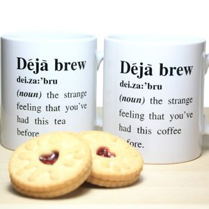 'Deja Brew' Definition Mug