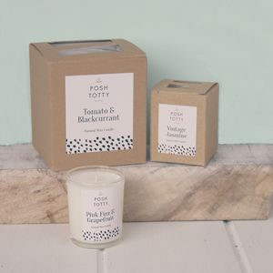 Small Pink Fizz And Grapefruit Scented Candle