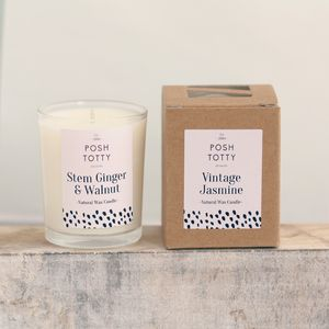 Small Stem Ginger And Walnut Scented Candle - candles & candlesticks