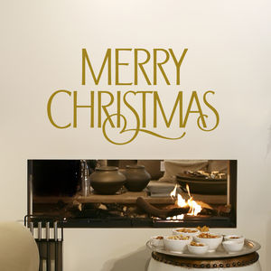 Merry Christmas Wall Sticker - bedroom