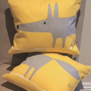 Mr Fox 'Heads And Tails' Cushions - patterned cushions