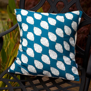 Beech Leaves Cushion - patterned cushions