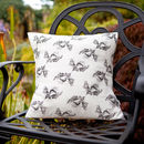 Monochrome Crunchy Leaf Cushion