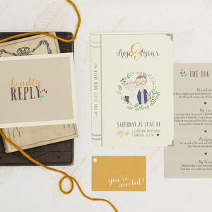 'Happy Ever After' Wedding Invitation