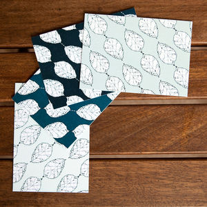 Beech Leaves Note Set - shop by category