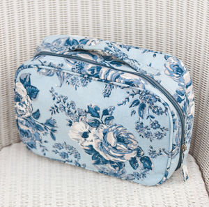 Canvas Set Of Two Or Individual Bags In Blue Rosetta