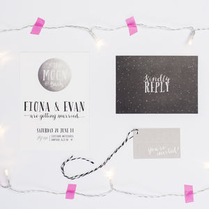 'To The Moon' Wedding Invitation