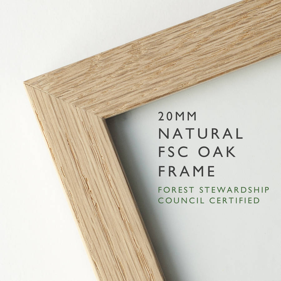 70x20cm handmade fsc oak frame by the drifting bear co 70x20cm handmade fsc oak frame jeuxipadfo Gallery