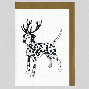 Illustrated Dalmatian Deer Blank Card