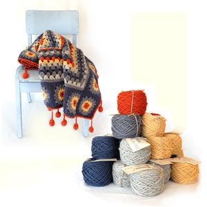 Sunflower Blanket Crochet Kit