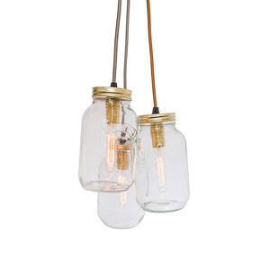 Three Jam Jar Pendant Light - pendant lights