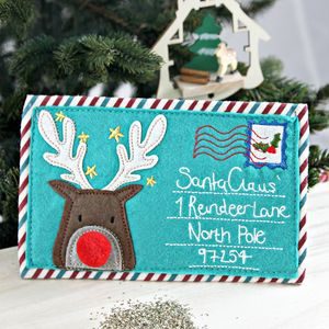 Reindeer Letter Purse - something for santa