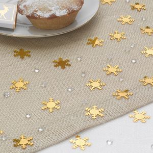 Christmas Gold Snowflake And Diamond Table Confetti - table decorations