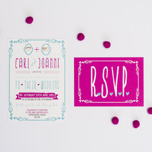 It Must Be Love Wedding Invitation
