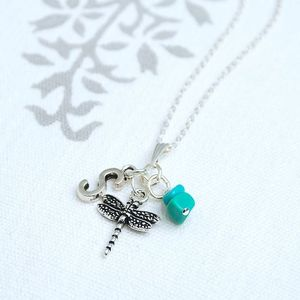 Personalised Birthstone And Charm Necklace - birthday gifts
