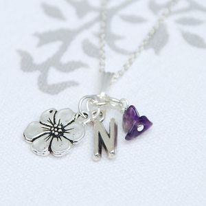 Personalised Birthstone And Charm Necklace - women's jewellery