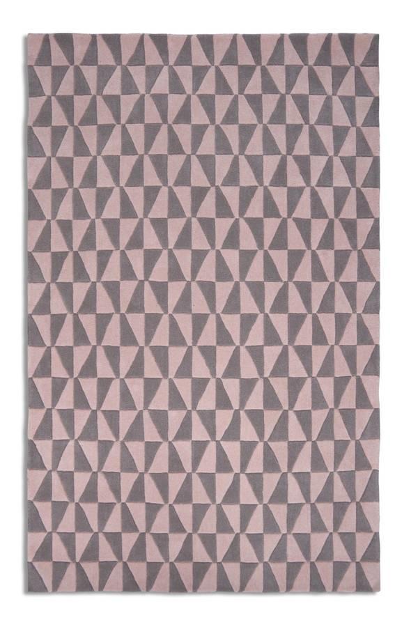 pastel pink geometric rug by i love retro. Black Bedroom Furniture Sets. Home Design Ideas