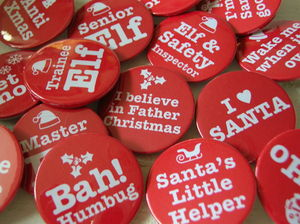 Christmas Badges - finishing touches