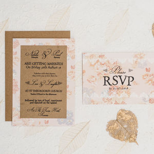 Autumn Is For Lovers Wedding Invitation - invitations