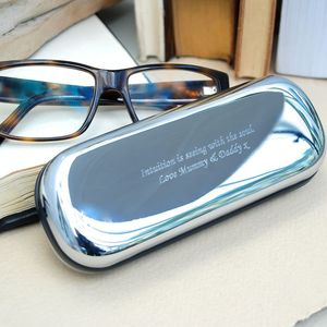 Personalised Chrome Glasses Case - glasses cases