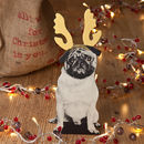 Pug Dog Christmas Decoration
